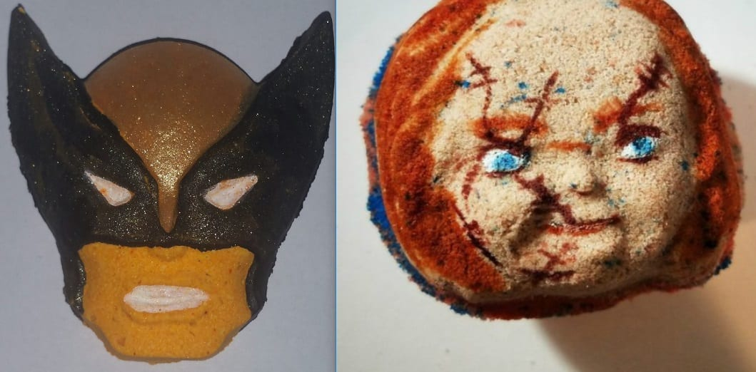Horror And Superhero Themed BATH BOMBS Blow Up Bath Time!
